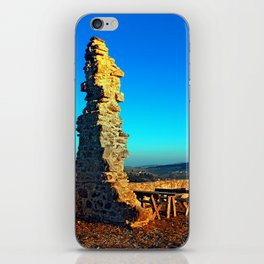 Taking a rest at the ruin | architecture photography iPhone Skin