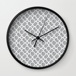 Grey Geometric Wall Clock