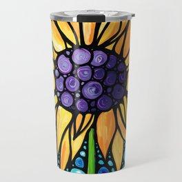 Standing Tall - Sunflower Art By Sharon Cummings Travel Mug