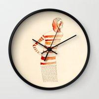 mom Wall Clocks featuring Mom by Danelys Sidron