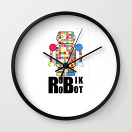 Retro Rubiks Cube Speed Solving Vintage Rubix Game Wall Clock