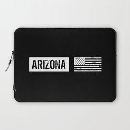 Black & White U.S. Flag: Arizona Laptop Sleeve