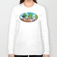mario bros Long Sleeve T-shirts featuring Mario Time (Adventure Bros) by DearSweetAru
