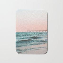 Beach Pier Sunrise Bath Mat
