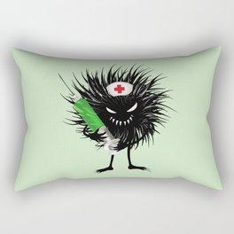 Evil Bug Nurse With Syringe Rectangular Pillow
