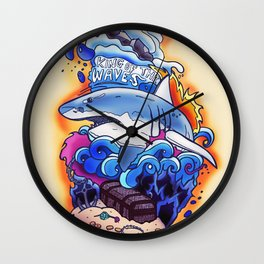 King of the Waves Wall Clock