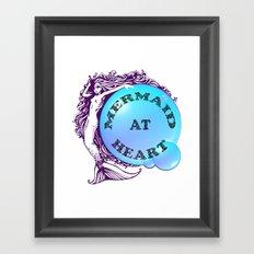 Mermaid at Heart Framed Art Print