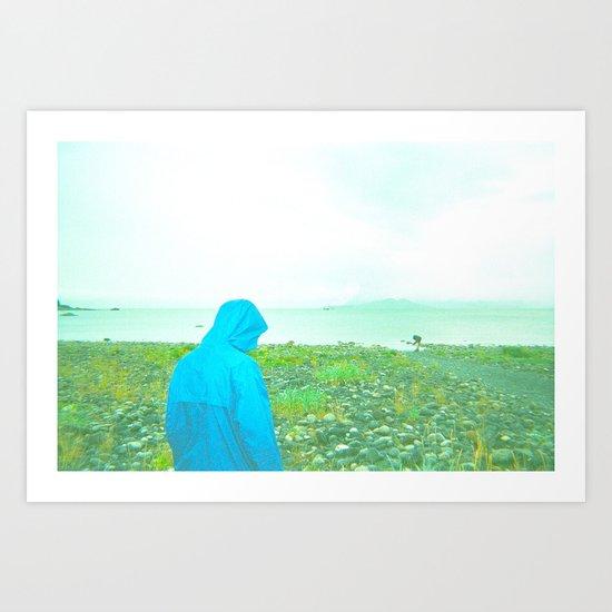 Blue. Art Print