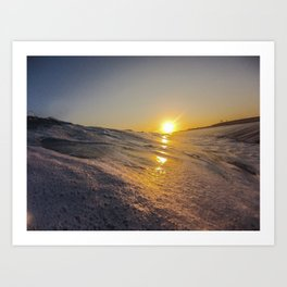 Sunset From The Water Art Print