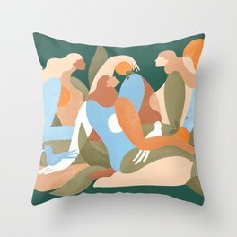 Time with friends is time well spent Throw Pillow