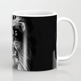 Lion, Lionart, King, Animal, Black,Minimal,Interior, Black White,Wall art, Art Print,Trendy decor Coffee Mug