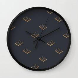 Cassette Pattern- Black Wall Clock