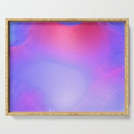 Purple and Pink Colorful Abstract Serving Tray