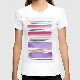 7   |181026 Lines & Color Block | Watercolor Abstract | Modern Watercolor Art T-shirt