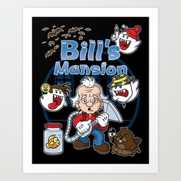 Bill's Mansion Art Print