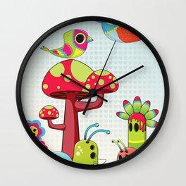 Critter Romance Wall Clock