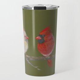 Pastel Cardinals Travel Mug
