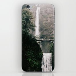 Multnomah Falls Waterfall in October - Landscape Photography iPhone Skin