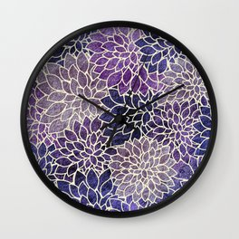 Floral Abstract 11 Wall Clock