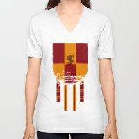 gryffindor V-neck T-shirts featuring gryffindor crest by nisimalotse