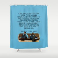 rap Shower Curtains featuring 101 Rap by Marianna