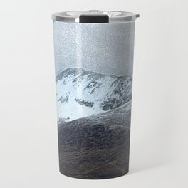 Off in the crouching mountains. Scotland Travel Mug