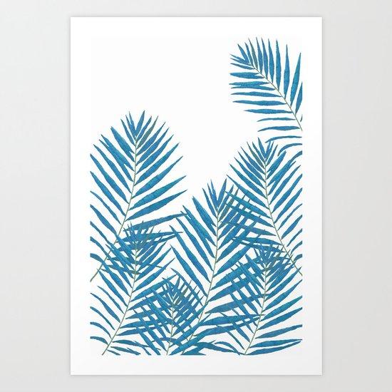 Fern Blue Art Print