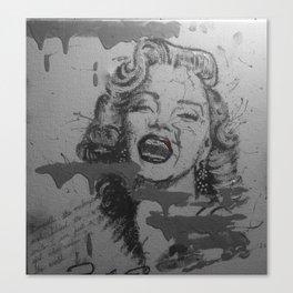 Makeup Marilyn BW Canvas Print