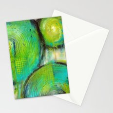 Firefly - Textured Abstract Painting Stationery Cards