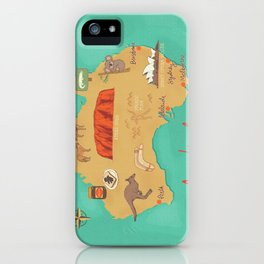 Australia Map iPhone Case