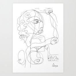 Dancing Woman Naive Style Art Print