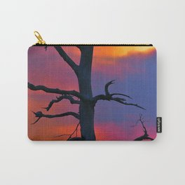 Dead Tree Against Colorful Sky Carry-All Pouch