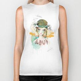 War girl Biker Tank