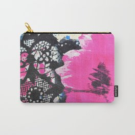 Pink Flower | fleur rose Carry-All Pouch
