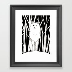 Wolf King Framed Art Print