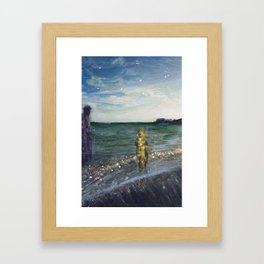 On the Shore: Peleus and Achilles Framed Art Print