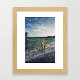 On the Shore: Peleus and Achilles Framed Art Print