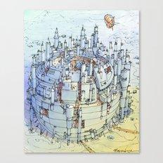 La Citta' nel deserto Canvas Print