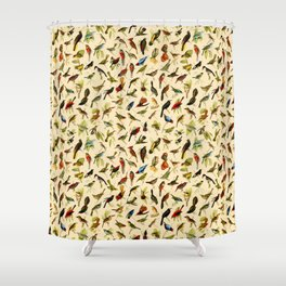 Vintage Birds of Brazil Designs Collection Shower Curtain