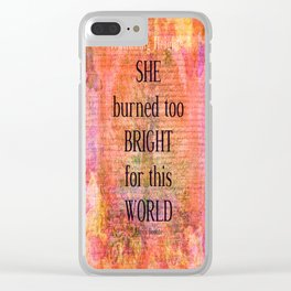 Emily Bronte Wuthering Heights quote Clear iPhone Case