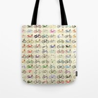 brompton Tote Bags featuring Bikes by Wyatt Design