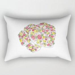 Iced Flower Hearts Rectangular Pillow