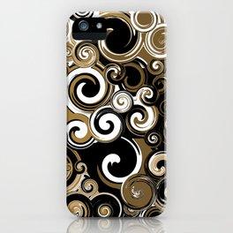 Coffee Swirls iPhone Case