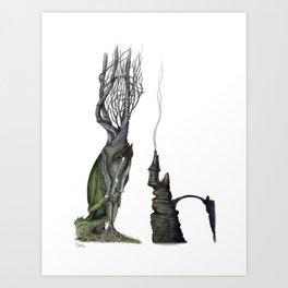 The Homesick Willow Art Print