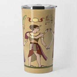 Calling to the Gods Egyptian Folk Art Travel Mug