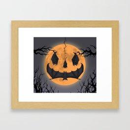 Halloween Moon Framed Art Print