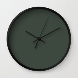 Gray Green Chalk Board Wall Clock