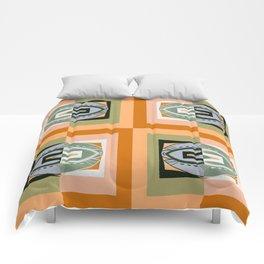 Warm Peachy Rust & Olive Retro Vintage Color Study No. 8 Comforters