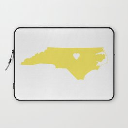 North Carolina Love in Lemon Laptop Sleeve