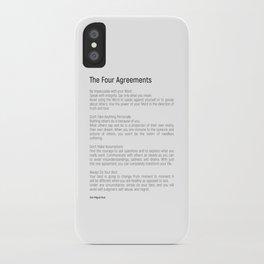 The Four Agreements #blackwhite #minimalism iPhone Case